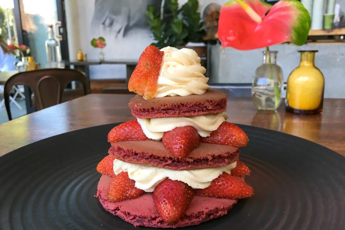 Red Velvet Pancakes in Sydney