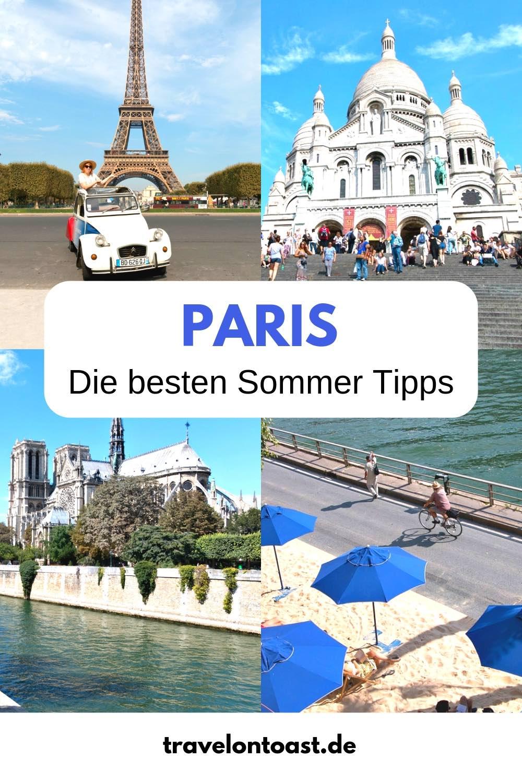 Reistips voor Parijs: de beste tips voor uw Parijs-reis in de zomer - met hotels, restaurants, cafés en ijssalons, evenals attracties in Parijs, zoals het stadsstrand Paris Plages, een buitenzwembad, strandbars, foto-ideeën voor Parijs voor uw fotoshoot in Parijs en een boottocht. Alles voor uw citytrip Europa! De beste korte reisideeën voor juni, juli of augustus. #Paris #France #zomer