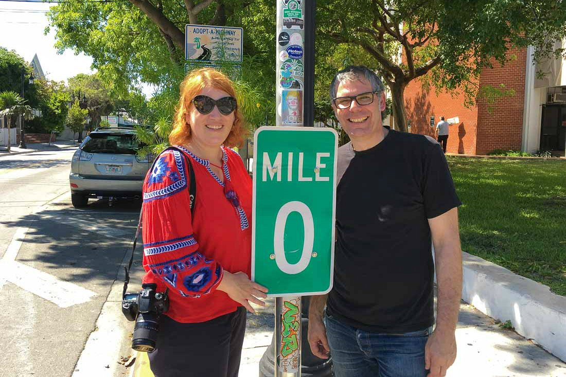 Mit Carsten in Key West, am Mile Marker 0