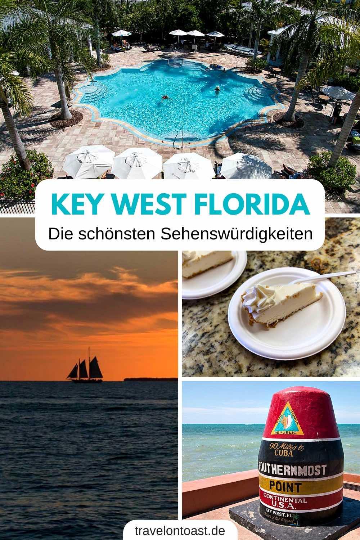 Erlebe Key West Florida mit diesen Tipps für Sehenswürdigkeiten, Fahrradverleih, Hotel, Key Lime Pie und Sunset Cruise zum Sonnenuntergang. Alles für euren Florida Keys Urlaub! / Key West / Key West Sehenswürdigkeiten / Florida Keys / Florida Reisetipps / Florida Rundreise / #KeyWest #FloridaKeys #Florida #Urlaub #Reisen