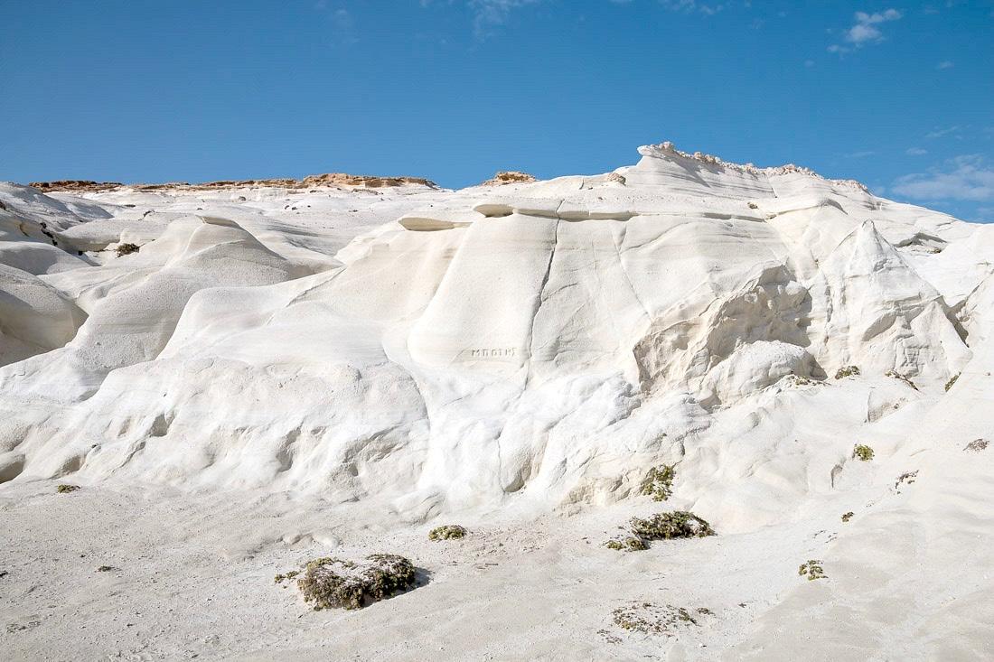 Weißes Vulkangestein