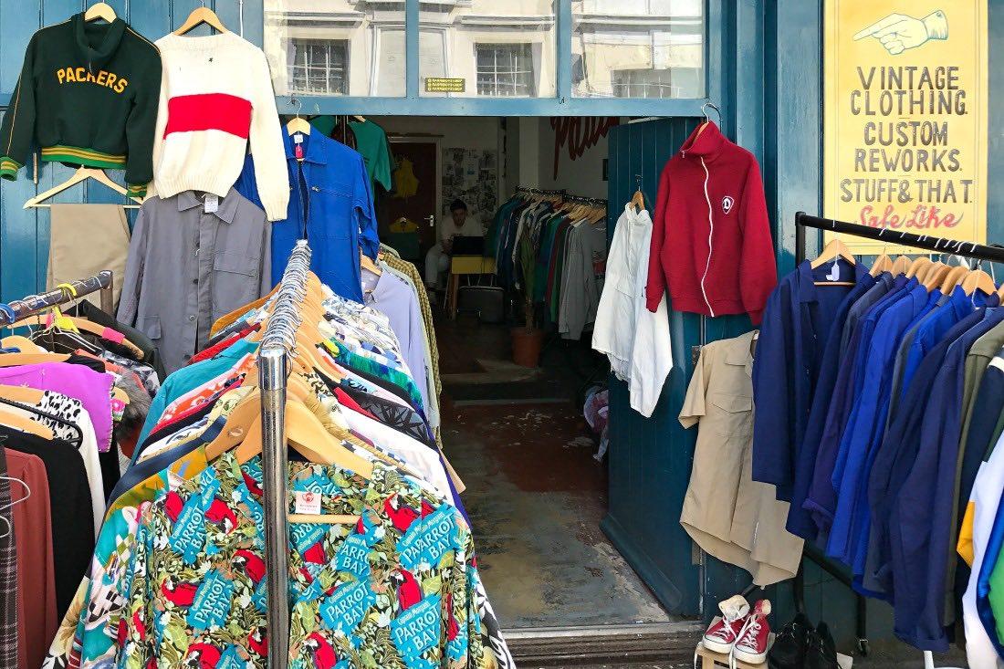 Flohmarkt auf der Upper Gardner Street