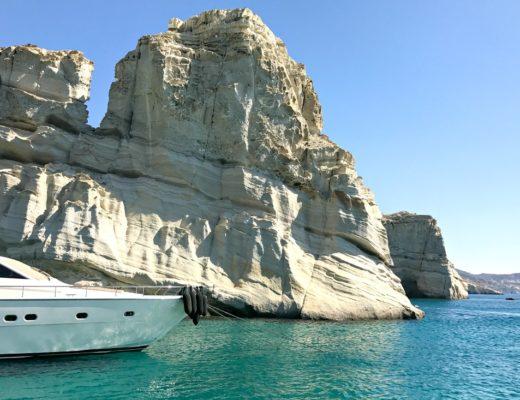 Milos Schiffstour (Griechenland): An einem Tag rund um die Insel