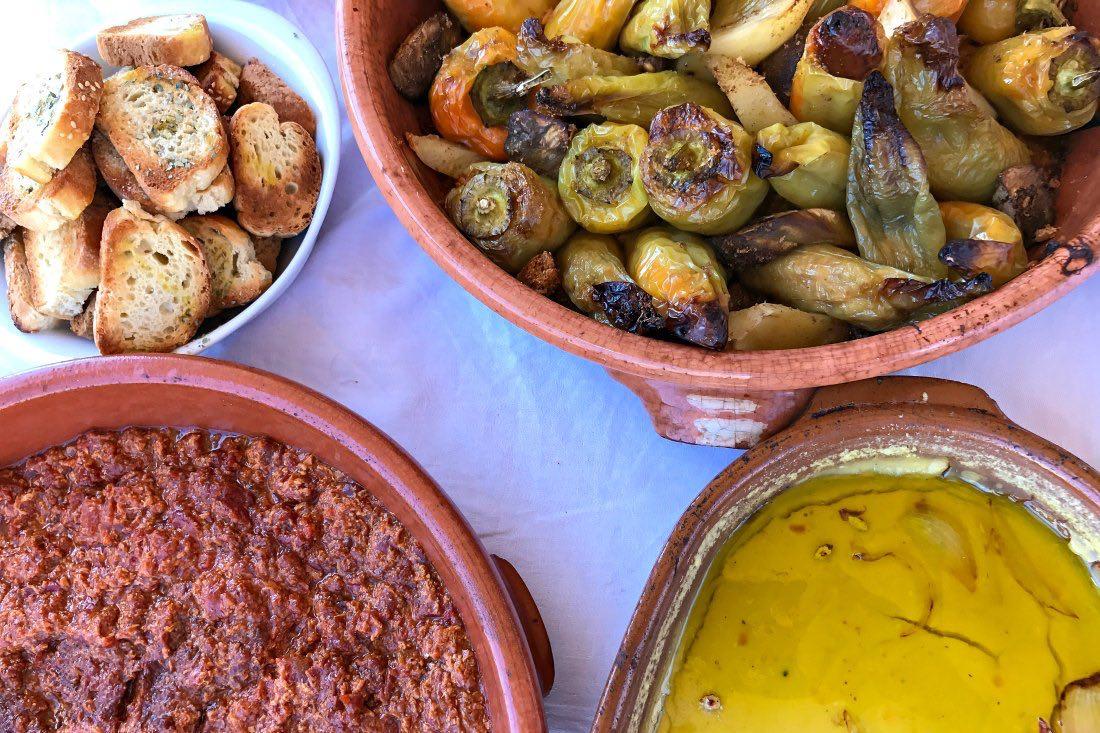 Griechisches Mittagsbuffet