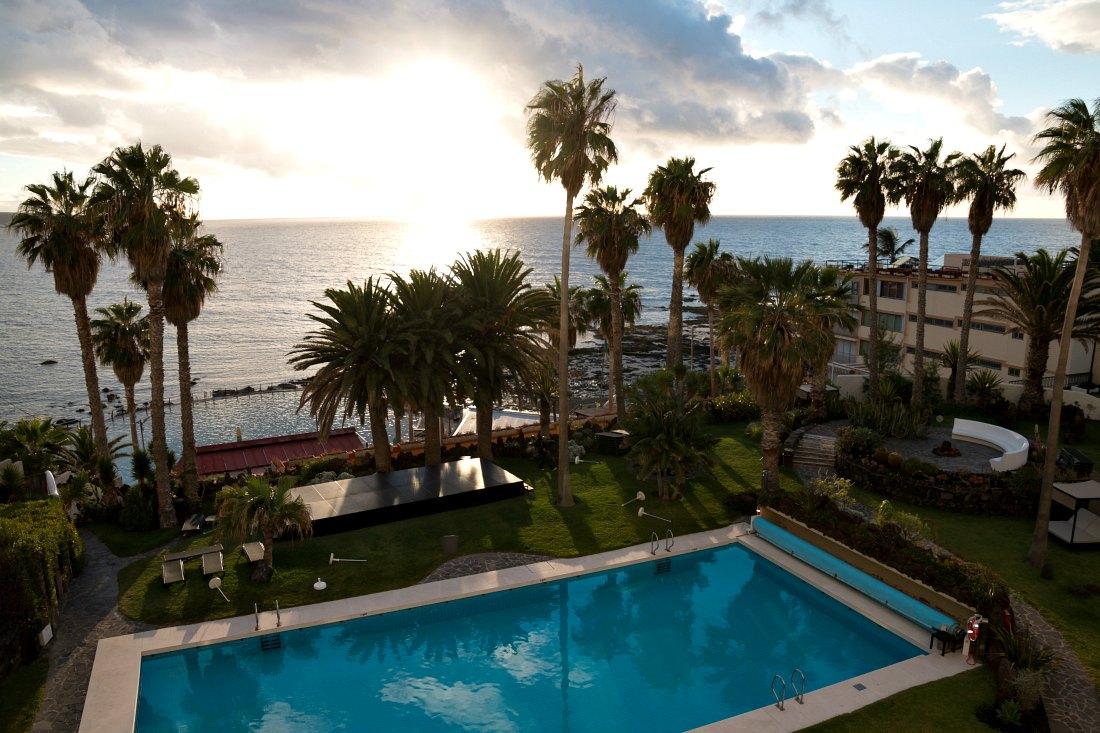 Sonnenuntergang beim Océano Hotel Health Spa auf Teneriffa