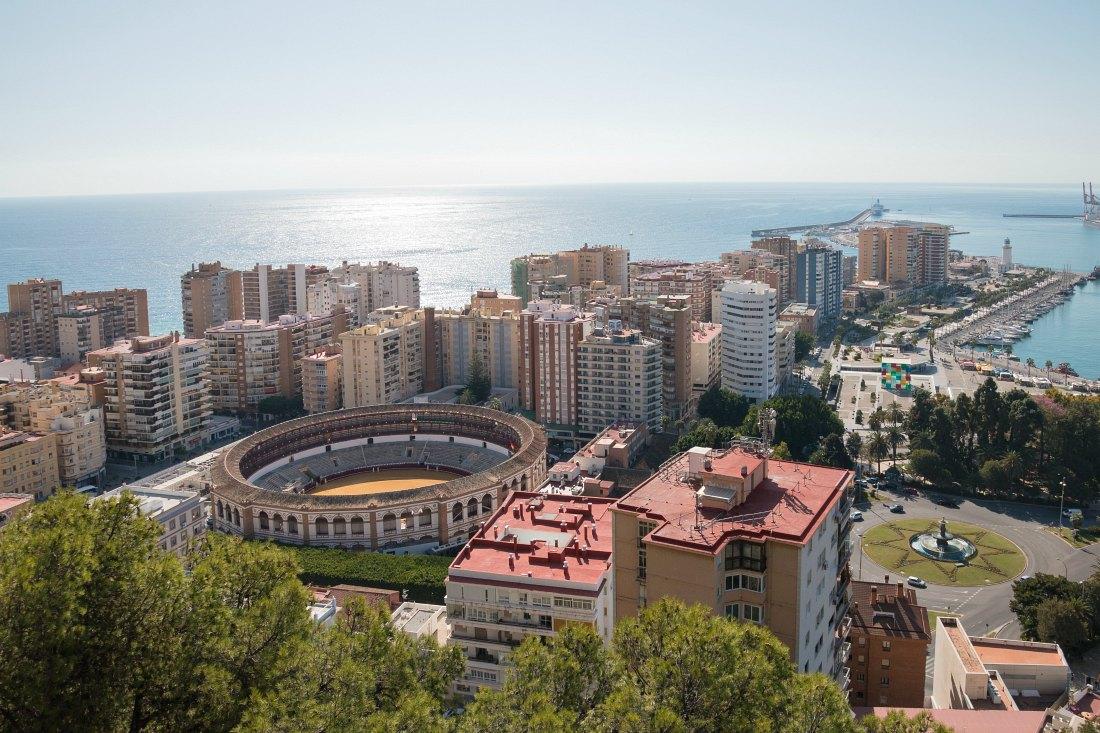 Ausblick auf Malaga vom Castillo de Gibralfaro