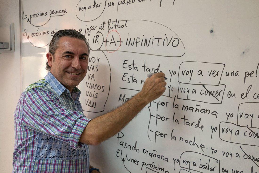 Lehrer in der Sprachschule
