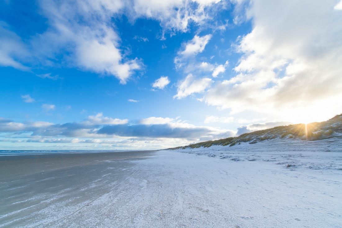 Strand von Ameland, Holland