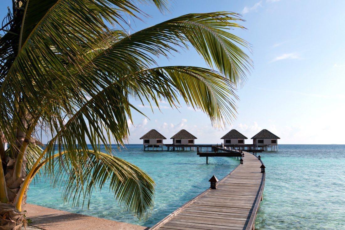 Überwasser-Bungalows auf den Malediven
