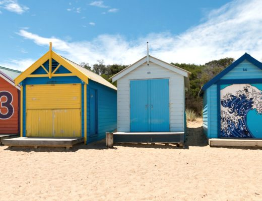 Brighton Beach Boxes: Strandtag in Melbourne, Australien