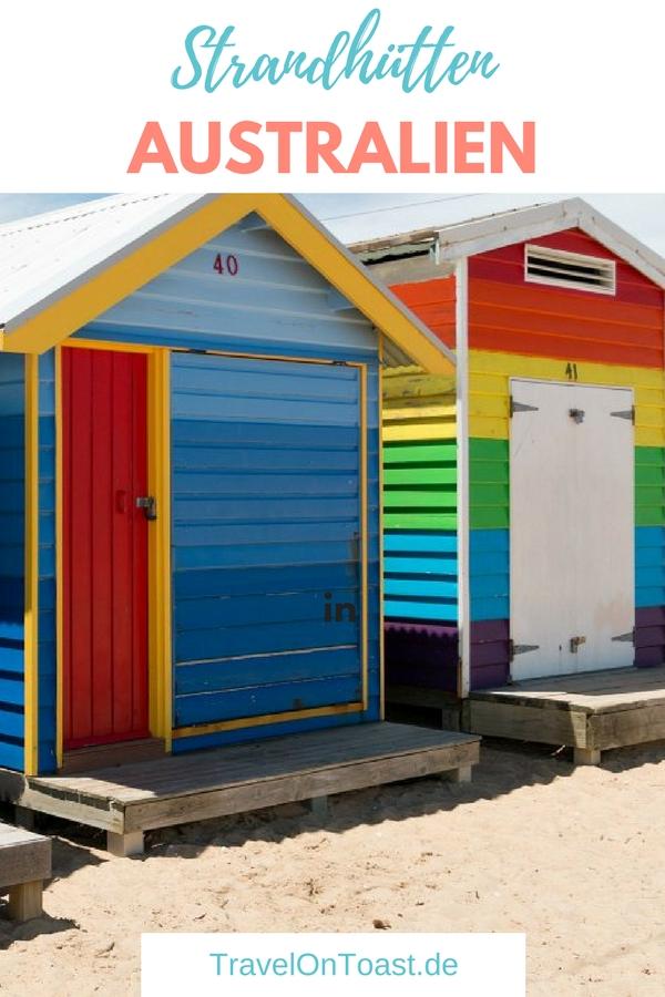 Strandtag mit Sehenswürdigkeit: In Melbourne, der zweitgrößten Stadt von Australien, erlebe ich die bunten Brighton Beach Boxes. Ich erzähle euch, ob sich der Besuch der 82 Strandhütten lohnt und wie ihr am besten dorthin kommt. #Australien #Melbourne #BrightonBeachBoxes
