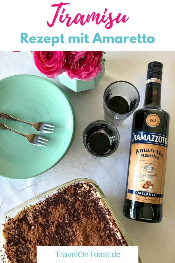 (Werbung) Ein einfaches und schnelles Tiramisu Rezept mit Amaretto #Tiramisu #Rezept #Dessert