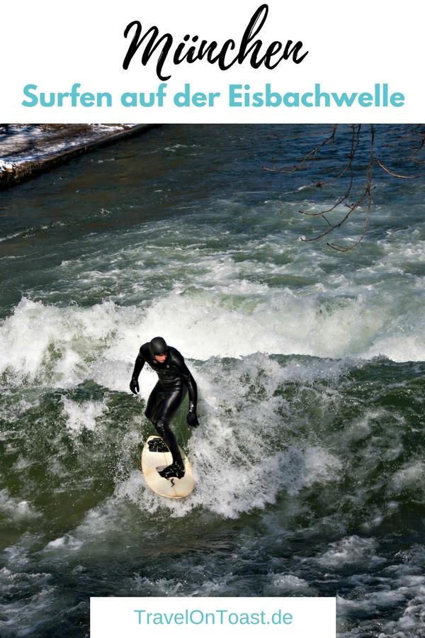 Surfen bzw. Wellenreiten mitten in der Innenstadt? Tag und Nacht? Zu allen Jahreszeiten, auch im Winter bei Minusgraden? Das könnt ihr in München erleben.Wir haben die Surfer auf der Eisbachwelle bei -6 Grad im Englischen Garten besucht. Im Reiseblog findet ihr den Bericht mit Video. #Surfen #Wellenreiten #Eisbachwelle #Eisbach #München #Bayern #Deutschland