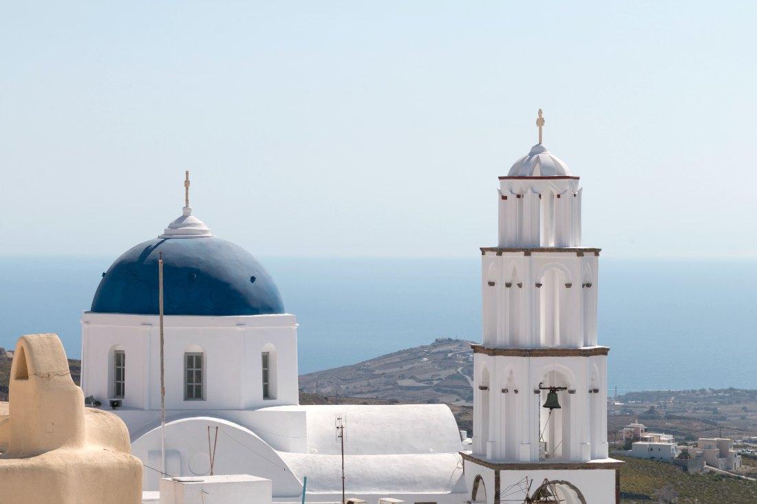 Pyrgos auf Santorini