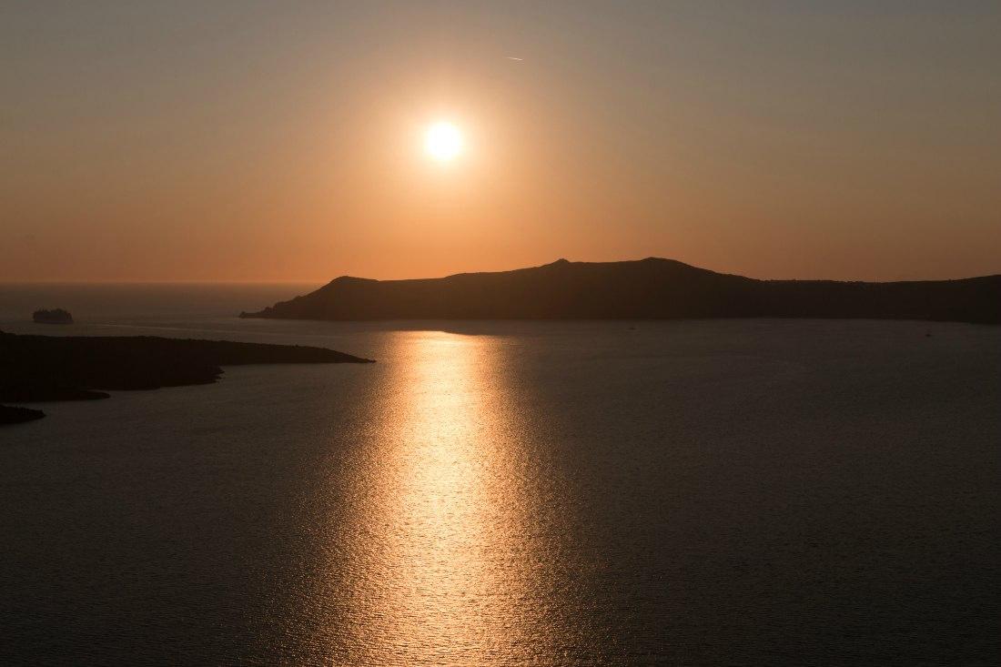 Sonnenuntergang auf Santorin Griechenland