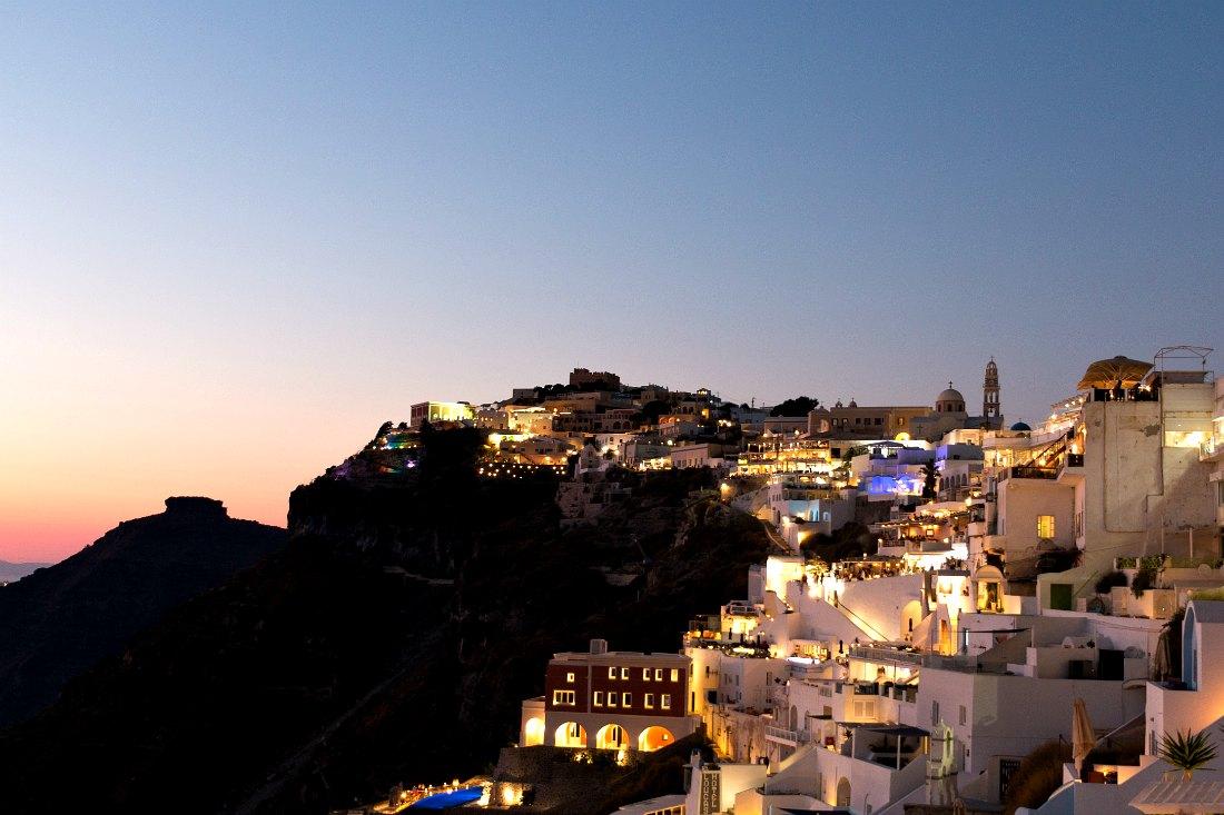 Sonnenuntergang auf Santorini Griechenland