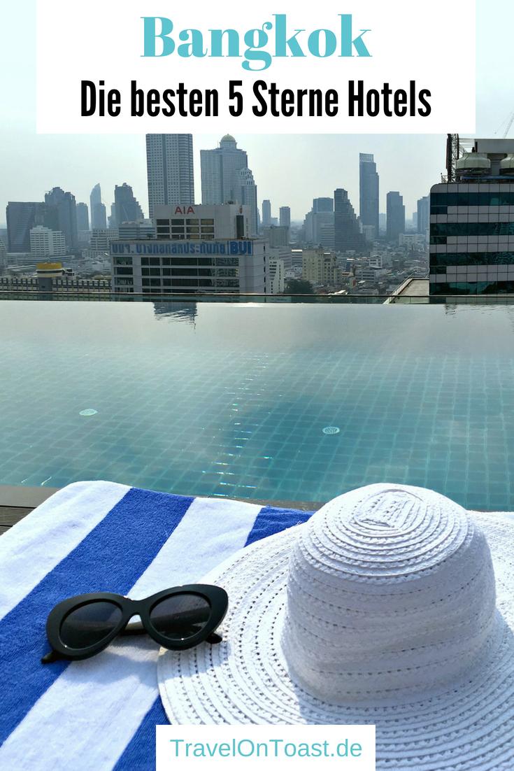 Hotels Bangkok, Thailand: Die besten (und bezahlbaren) 5 Sterne Hotels. Zentral gelegen, am Fluss, mit Infinity Pool oder Rooftop Bar – die schönsten 5 Luxushotels in Bangkok findet ihr im Artikel. Ob zum Übernachten, für den Thai Afternoon Tea oder den Cocktail auf der Dachterrasse. #Bangkok #Thailand #Hotels #Luxushotels #Insidertipps #Geheimtipps