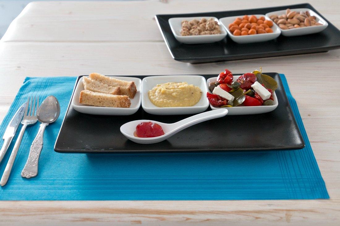 Essen auf Santorini