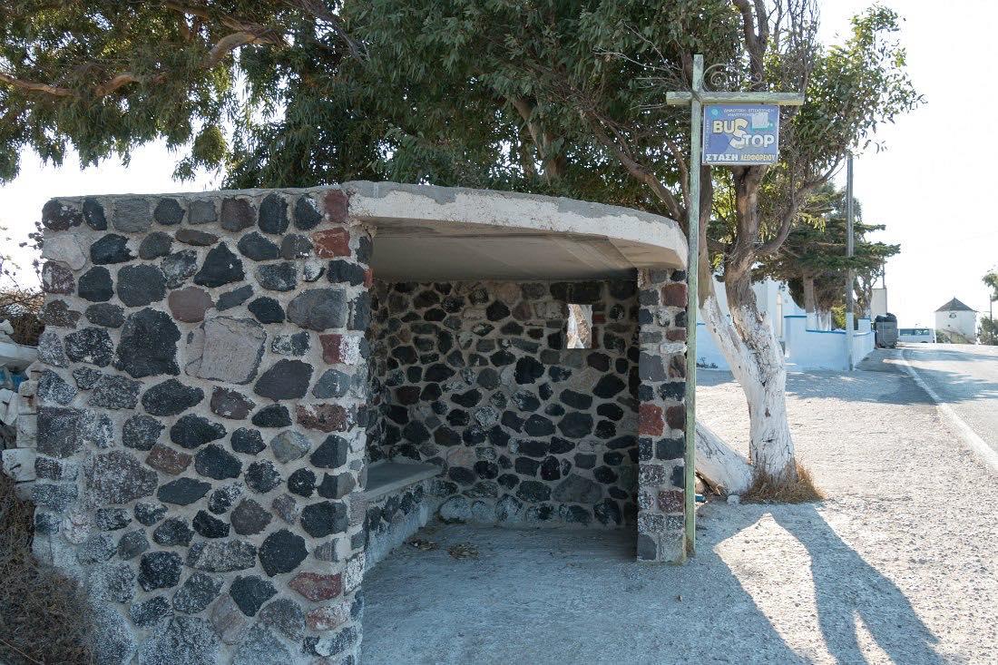 Bus auf Santorini