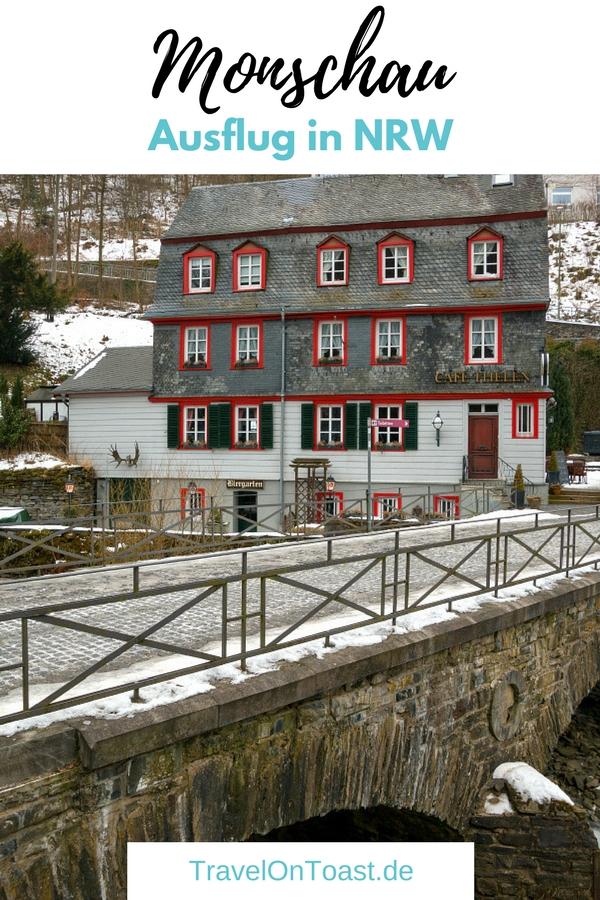 Nordrhein-Westfalen: Schöne Fachwerkhäuser am Rur Fluss findet ihr in Monschau, in der Eifel. #Monschau #Eifel #NRW