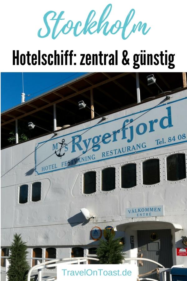 Geheimtipp für deine Städtereise nach Stockholm, Schweden: Die beste Alternative zum Hotel in Stockholm ist ein Hotelschiff. Hier übernachtest du beim Zentrum, schön und günstig. #Hotelschiff #Stockholm #Schweden