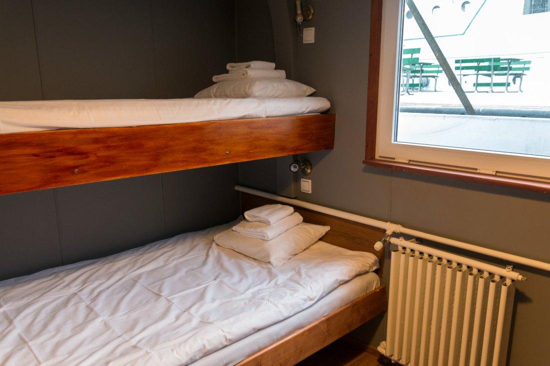 Kajüte auf dem Hotelschiff Stockholm