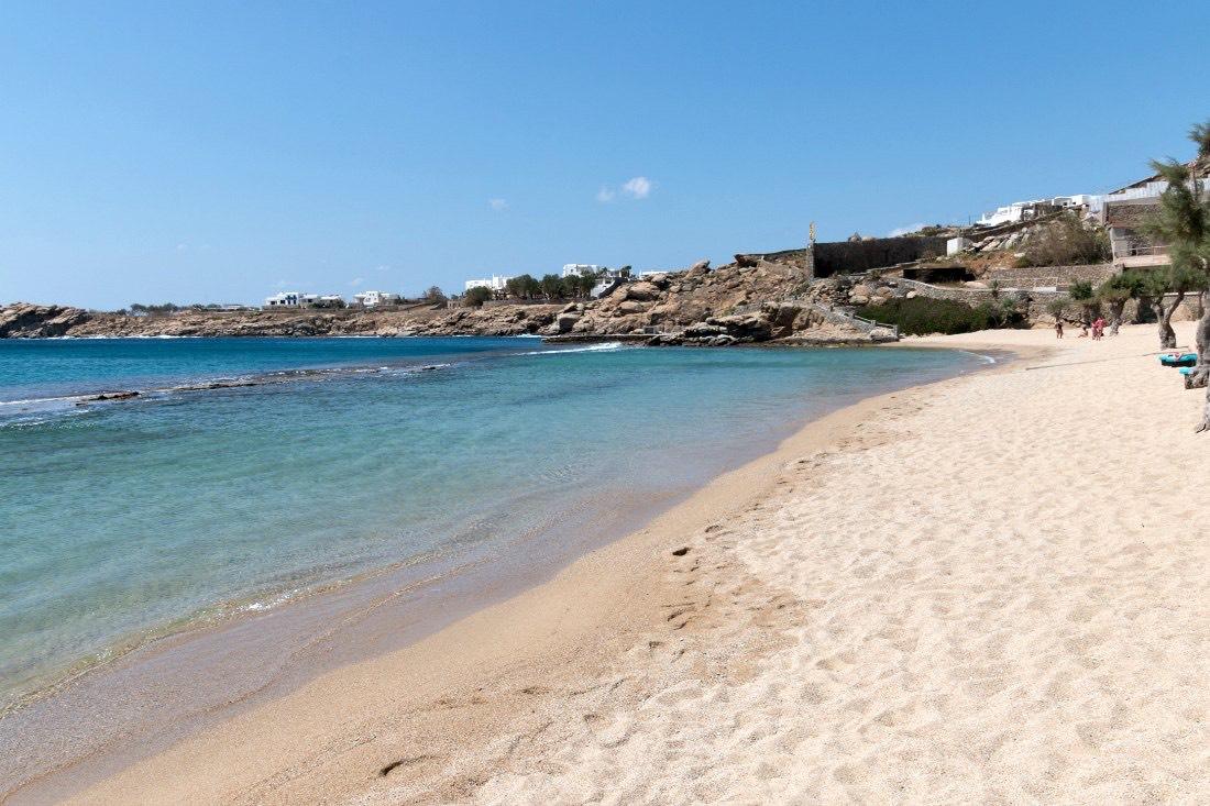 Strände auf Mykonos: Paradise Beach