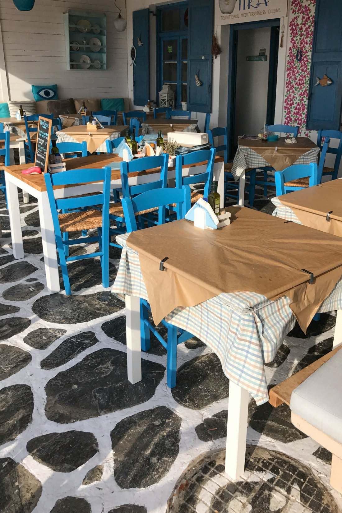 Café auf Paros Griechenland