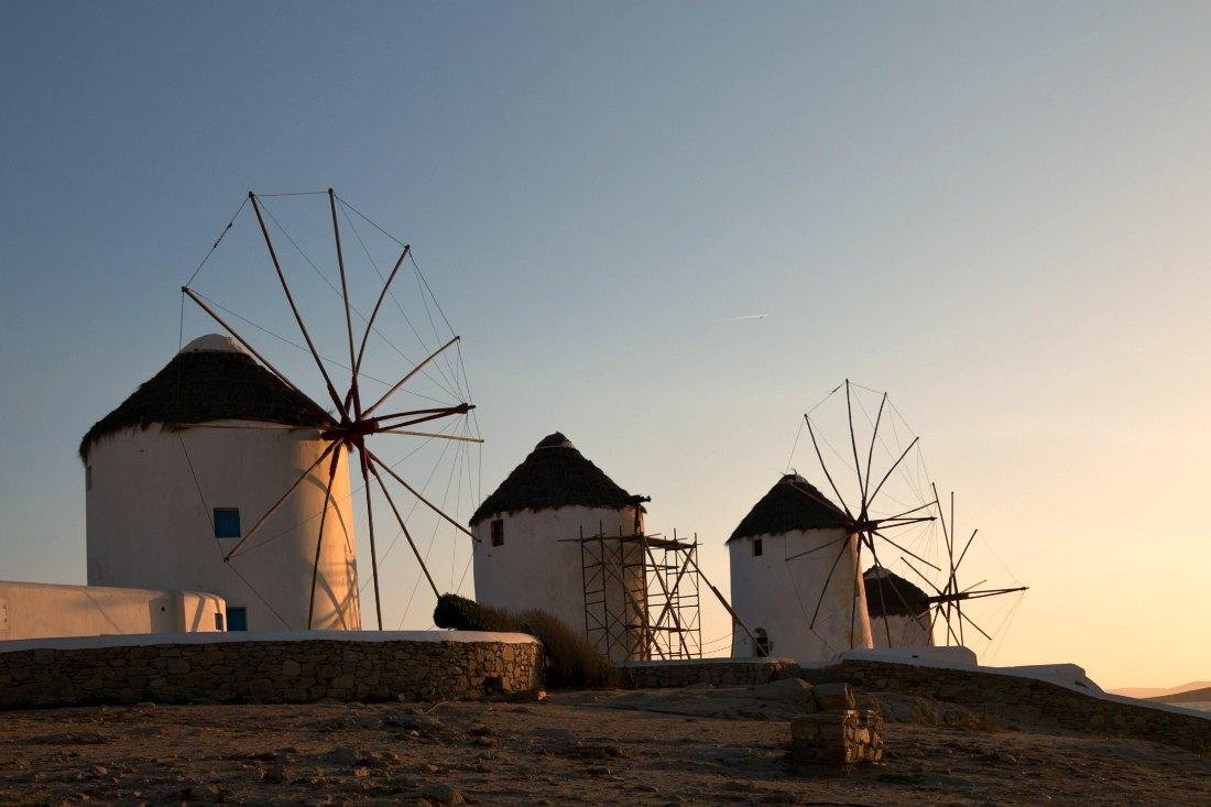 Mykonos Sehenswürdigkeiten: Die WindmühlenKato Mili