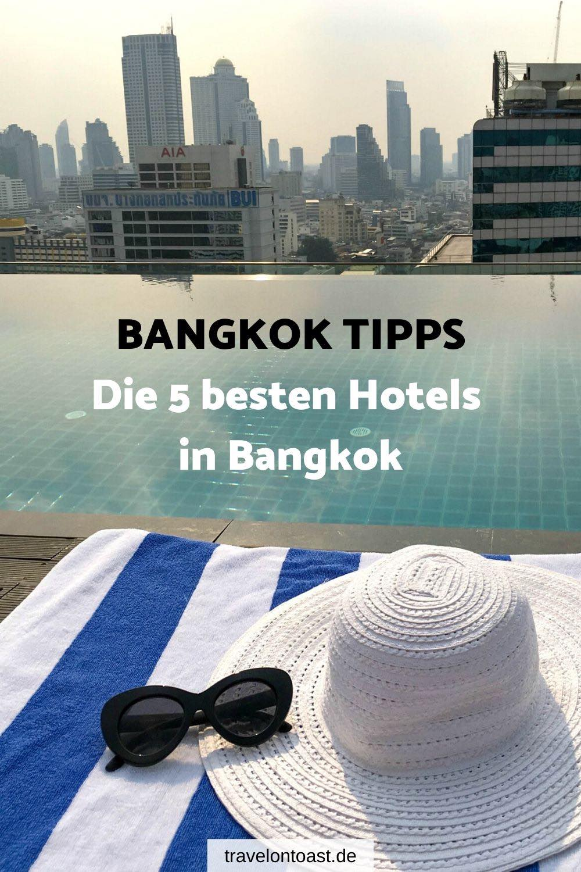 Du suchst nach Bangkok Hotel Tipps? Im Reiseblog findest du traumhaft schöne Hotels in Bangkok – ob am Fluss, mit Infinity Pool oder Rooftop Bar. Meine Hotelempfehlungen für fünf Luxushotels (4 und 5 Sterne Hotels), von denen die meisten absolut bezahlbar sind. / Bangkok / Bangkok Tipps / Bangkok Thailand / Bangkok Hotel / Bangkok Hotel Infinity Pool / Bangkok Hotel Luxury #Bangkok #Thailand #Urlaub #Reisen