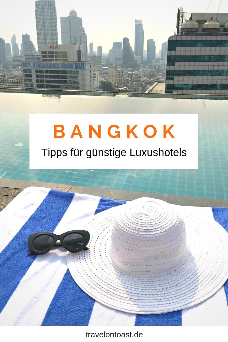 Luxushotel ganz günstig - das gibt es in Bangkok, Thailand. Hol dir meine Tipps für 5 Sterne Hotels: ob zentrale Unterkunft, am Fluss, mit Pool auf dem Dach oder Wellness. #Bangkok #Thailand #Urlaub #Reisen