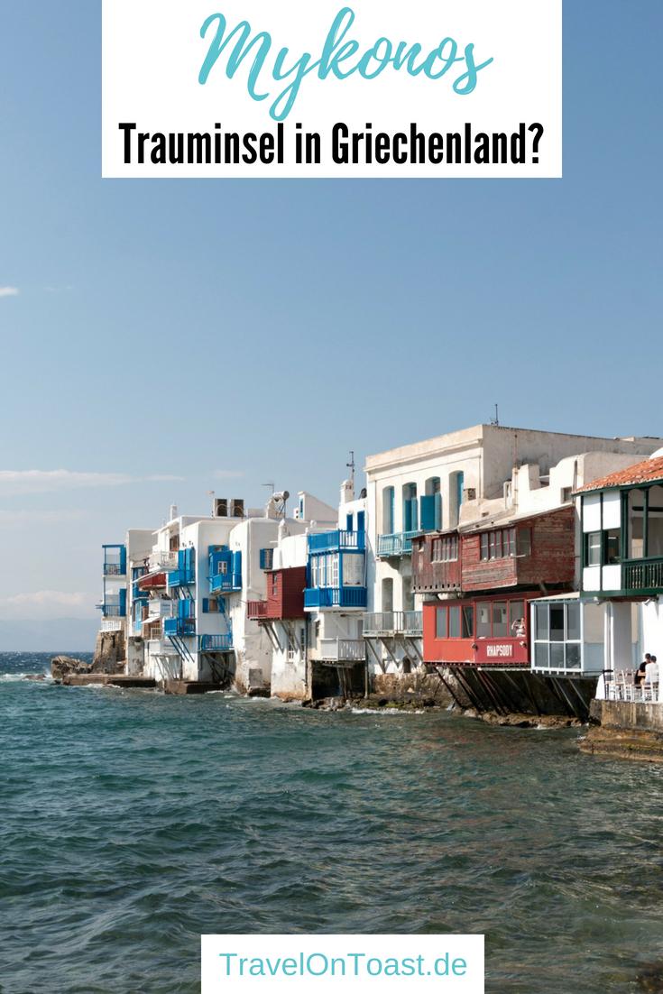 Griechische Inseln: Mykonos Griechenland besuchte ich beim Inselhopping Griechenland. Im Artikel findest du die besten Mykonos Tipps für Flug, Fähre, Hotel in Mykonos Stadt, die schönsten Sehenswürdigkeiten wie Klein Venedig und die Windmühlen Kato Mili sowie Mykonos Strände. Tolle Mykonos Reisetipps für deinen Mykonos Urlaub und Inselhüpfen Kykladen! #Mykonos #Kykladen #Griechenland