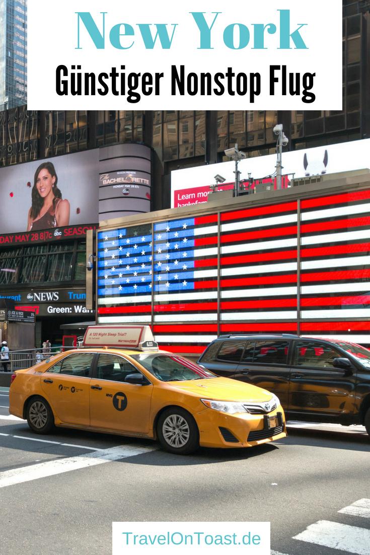 Die besten Tipps für einen günstigen Nonstop Flug: von Düsseldorf nach New York mit Eurowings, für etwas mehr als 500 Euro pro Person. In rund 8 Stunden hin und in 7,5 Stunden über Nacht zurück, ohne Zwischenlandung. Im Reiseblog findet ihr alles zum Flug New York. #Flug #Flugreise #NewYork #NYC #Manhattan #USA #Esta #Reise #Reisen #Fernreise #Fernreisen #Urlaub #Langstreckenflug