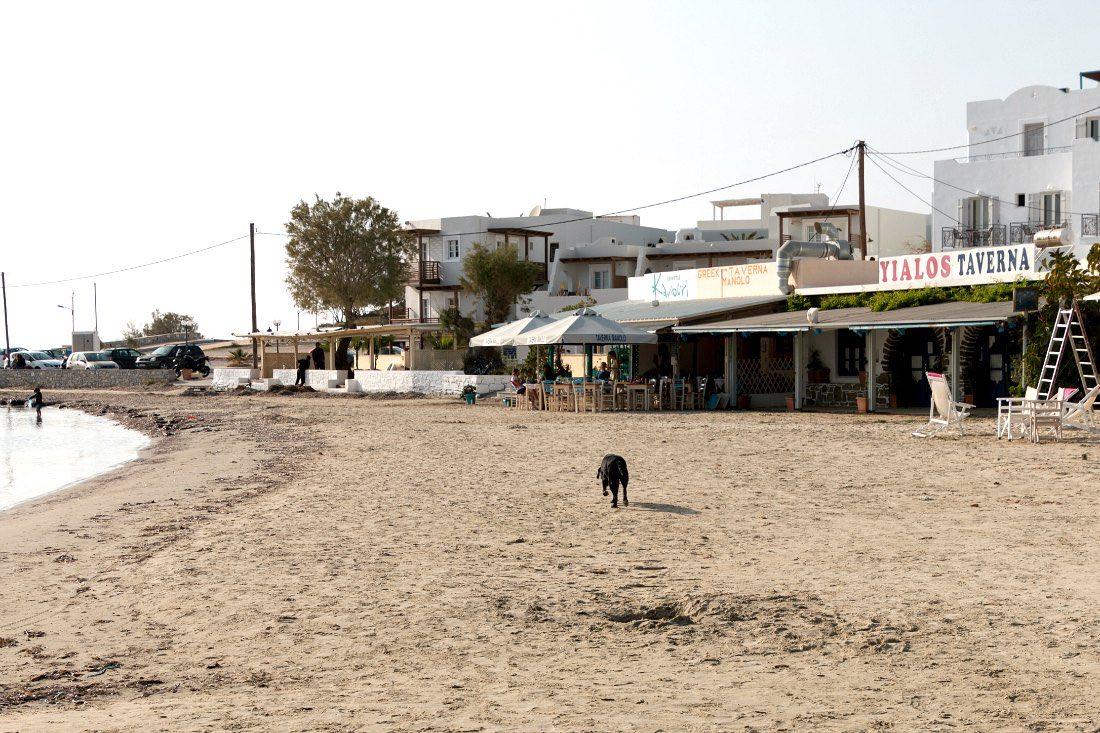 Strandrestaurant auf Naxos