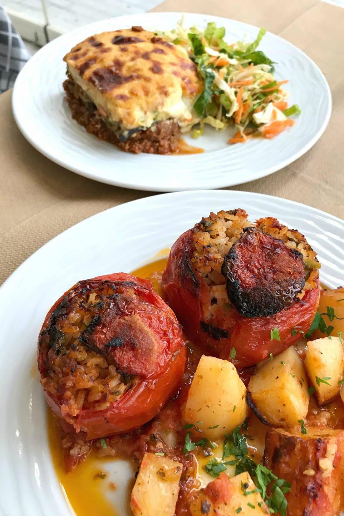 Essen im Restaurant Scirocco auf Naxos