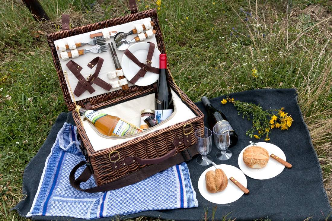 Picknick in den Weinbergen