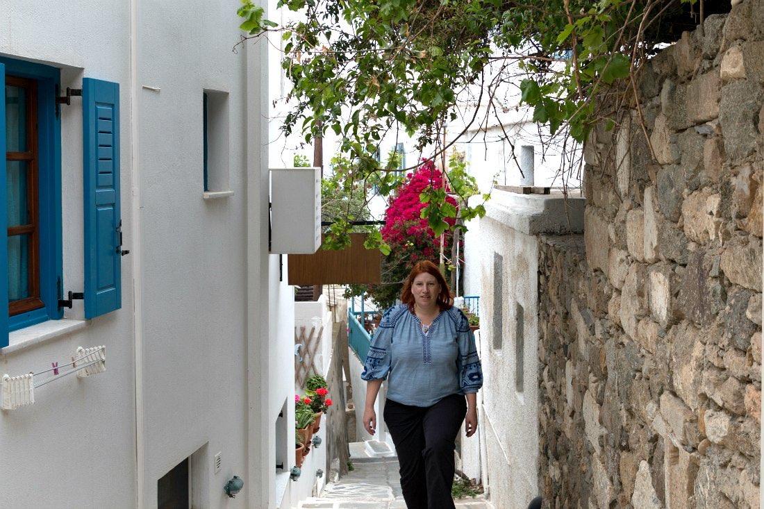 Reiseblogger Anja auf Naxos