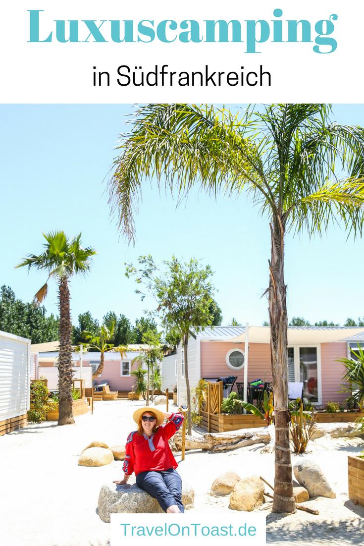 (Werbung für YouKamp) Glamping in Südfrankreich: Auf den 4 und 5 Sterne Campingplätzen Californie Plage(Vias) undYelloh! Village Le Sérignan Plage übernachteten wir in Mobilheimen, es gab Restaurants, Beachbar und Spa, einmal hatten wir sogar einen eigenen Whirlpool. Ich erzähle euch vom bequemenCamping in Südfrankreich und den Highlights der Umgebung. #Frankreich #Südfrankreich #Camping #Glamping #Reise #Reisen #Urlaub #Ferien