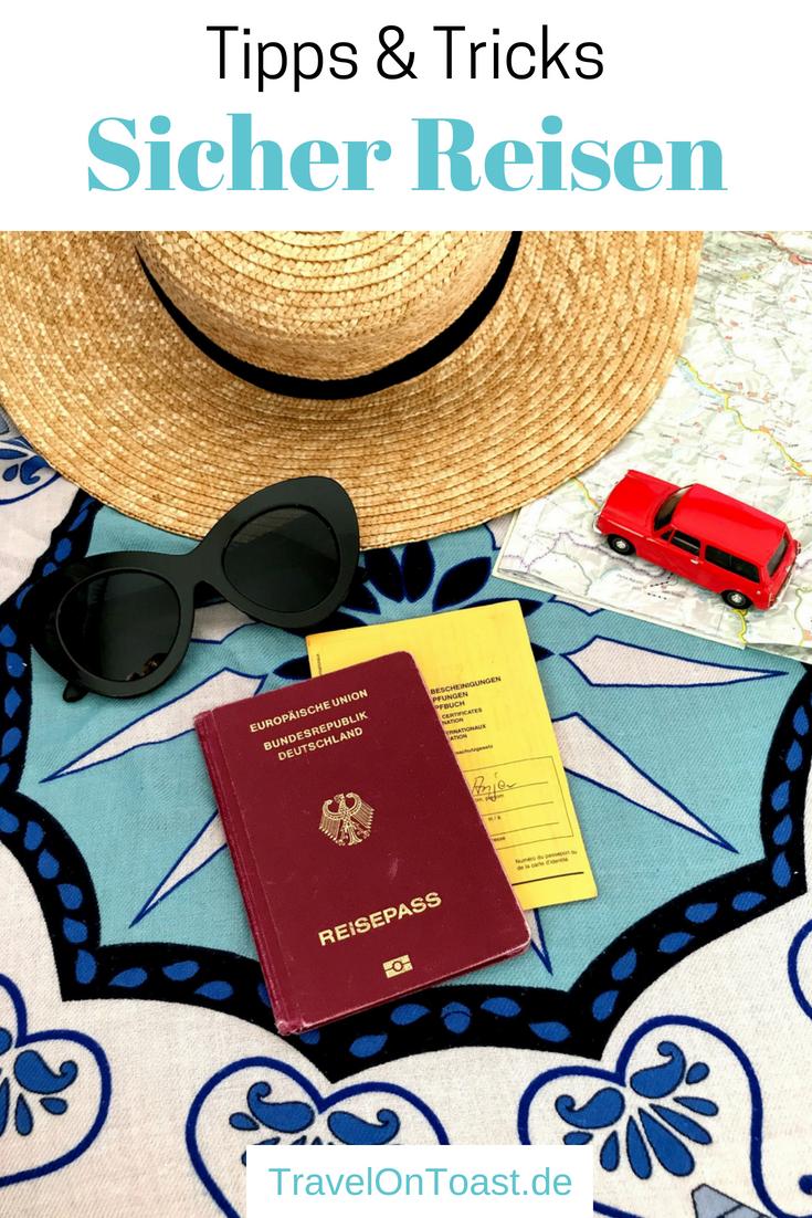 (Werbung) Es kann auf Weltreise, Langzeitreise oder selbst im Urlaub viel passieren: von Krankheiten und Unfällen über Diebstahl bis hin zum Überfall. Ich bin jedoch bisher unversehrt durch 55 Länder gereist. Im Artikel verrate ich euch meine Vorsichtsmaßnahmen für mehr Sicherheit auf Reisen. #Weltreise #Langzeitreise #Fernreise #Reise #Reisen