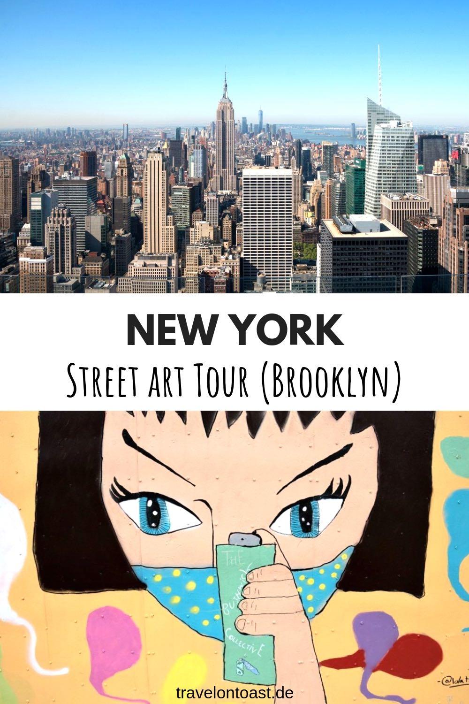 Die beste New York Street Art und Graffiti Tour mit Guide: Entdecke in rund zwei Stunden viele der über 50 Kunstwerke bzw. Murals der Outdoor Galerie Bushwick Collective in Brooklyn NYC. #NewYork #Urlaub #Reisen