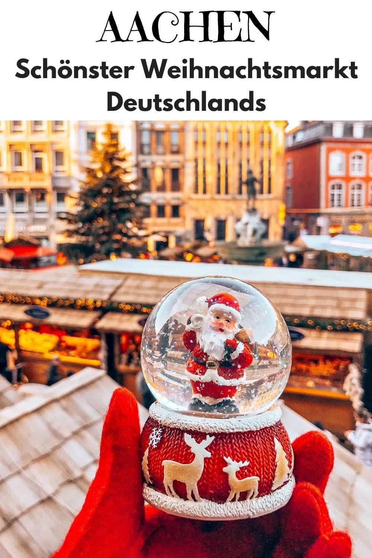 Schönster Weihnachtsmarkt Deutschlands: Aachen (NRW). Einer der besten Weihnachtsmärkte Europas findet vor der Kulisse des historischen Aachener Rathauses und des Aachener Doms statt. In diesem Artikel findest du alles zu Öffnungszeiten, Anreise, Hotel und den schönsten Ständen auf dem Aachener Weihnachtsmarkt - mit vielen Bildern. #Aachen #NRW #Weihnachtsmarkt #Weihnachten #Reisen #Reiseinspiration #Reisetipps #Reiseziele #Reiseblog