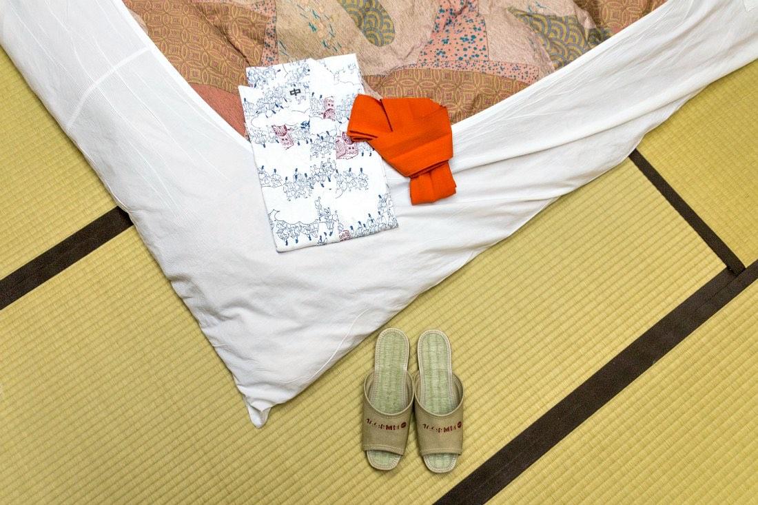 Ryokan Hotel mit Onsen Bad in Nordjapan