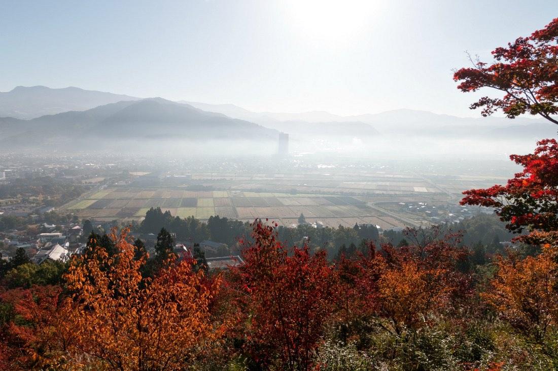 Herbstwälder in Nordjapan