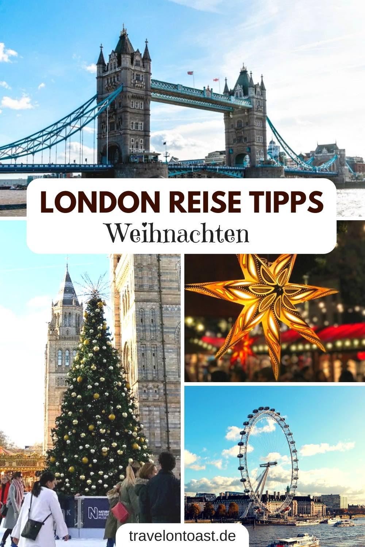 Hol dir die besten London Reise Tipps zu Weihnachten: mit Weihnachtsmarkt, Weihnachtsshopping, Weihnachtsbeleuchtung und Schlittschuhfahren. Winter Tipps für London England, wie du es in der Weihnachtszeit erleben kannst – samt Sehenswürdigkeiten für deinen Kurzurlaub, Unterkunft und Zeitplan für Weihnachten in London. #London #Urlaub #Reisen #Kurzurlaub