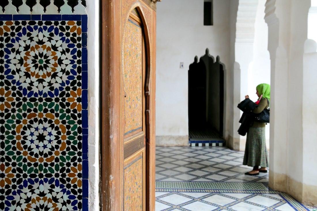 Menschen in Marrakesch