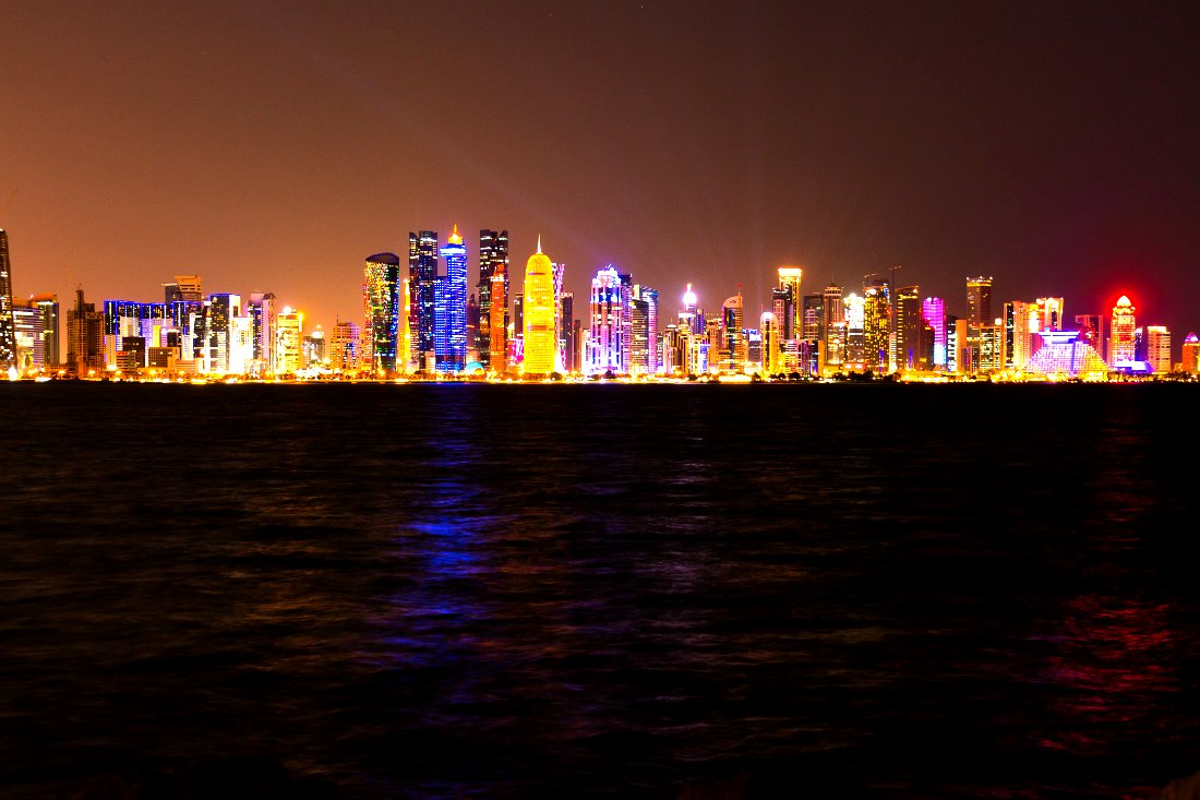 Skyline Doha Katar Qatar