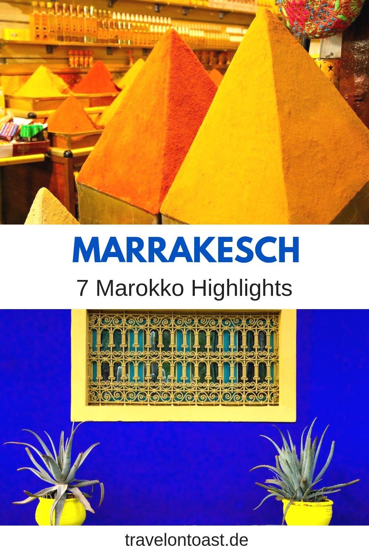 Marrakesch Tipps für Marrakesch Marokko: 7 Highlights und 1 Warnung. Die besten Marrakech Reisetipps inkl. viele Marrakesch Bilder (z. B. Djemaa el Fna, Jardin Majorelle oder Koutoubia Moschee). Geniale Marrakech Tipps für deine Marrakech Reise bzw. Marokko Reise! Alles, was du für Städtetrip oder Rundreise wissen musst. #Marrakesch #Marrakech #Marokko #Afrika #Orient