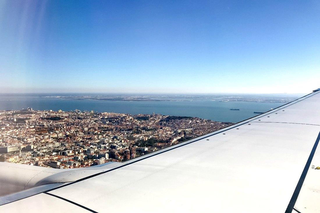 Nonstopflug nach Lissabon