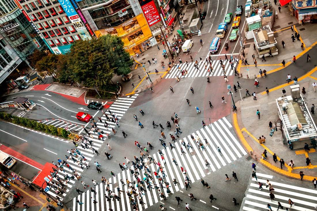 Shibuya Crossing in Tokio
