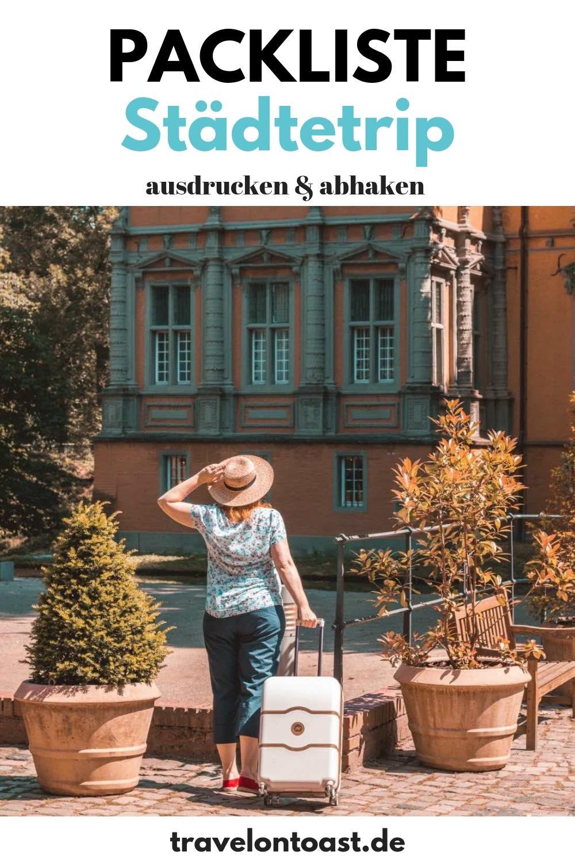 Packliste Städtetrip: Die praktische Checkliste für deine Städtereise - ob nach Hamburg, Paris, Rom oder Amsterdam. Einfach zum Ausdrucken und Abhaken. Die perfekte Packliste Urlaub für Kleidung, Handgepäck und Koffer für den Städtetrip Deutschland und Städtetrip Europa am Wochenende. #Packliste